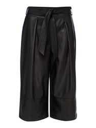 Episode Faux Leather Culotte Black