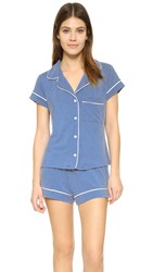 Eberjey Gisele Short Pj Set Blue Jean
