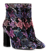 Roger Vivier Bootie Chunky Sequin Embellished Ankle Boots Multicoloured