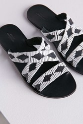 Urban Outfitters Mack Woven Slide Black And White