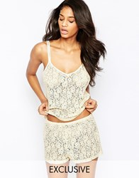 Wolf And Whistle Lace Shorts White