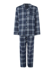 Howick Check Pyjama Set Blue