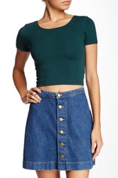 American Apparel Jersey Crop Tee Green