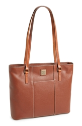 Dooney And Bourke 'Lexington Pebble Grain Collection' Water Resistant Tumbled Leather Shopper Amber