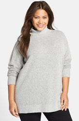 Plus Size Women's Halogen Turtleneck Sweater