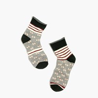 Madewell Striped Diamond Ankle Socks Luxurious Forest