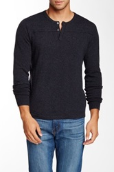 Autumn Cashmere Cashmere Henley Sweater Blue