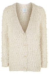 Sunday Fluffy Longline Cardigan By Jovonna Cream