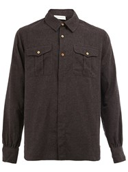 Faith Connexion Flap Pockets Shirt Grey