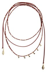 Women's Bp. Faux Suede Beaded Wrap Necklace