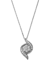 Wrapped In Love Diamond Pendant Necklace In 14K White Gold 1 4 Ct. T.W.