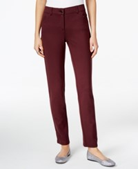 Styleandco. Style Co. Ponte Slim Leg Pants Only At Macy's Dried Plum
