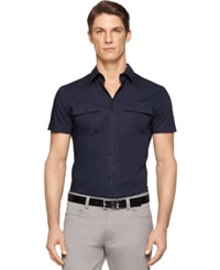 Calvin Klein Dressy Refined Slim Fit Polo Cadet Blue