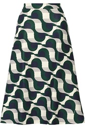 Etre Cecile Printed Scuba Skirt Green