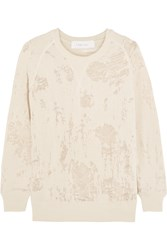 Iro Garence Burnout Cotton Blend Sweatshirt Nude