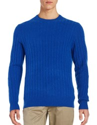 Black Brown Cashmere Cable Knit Sweater China Blue