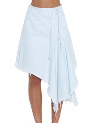 Frayed Asymmetric Denim Wrap Skirt Marques'almeida Matchesfashion.Com Uk