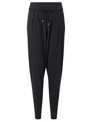 Crea Concept Drawstring Jersey Trousers Charcoal Grey Marl