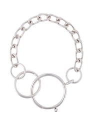 Givenchy Oversized Loop Necklace Metallic