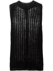 Rick Owens 'Nautical' Sleeveless Knit Top Black