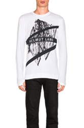 Helmut Lang Long Sleeve Crewneck Tee In White