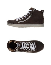 Francesco Milano High Tops And Trainers Dark Brown