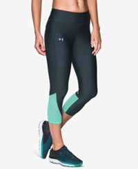 Under Armour Fly By Heatgear Capri Leggings Stealth Grey Crystal