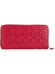 Comme Des Garcons Wallet Stars Pattern Wallet Red