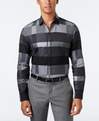 Alfani Men's Slim Fit Colorblocked Shirt Only At Macy's Active Steel