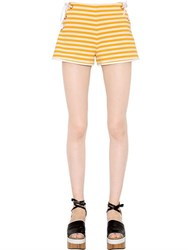 Clover Canyon Striped Suiting Lace Up Shorts