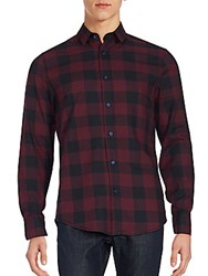 Sovereign Code Springfield Check Shirt Oxblood
