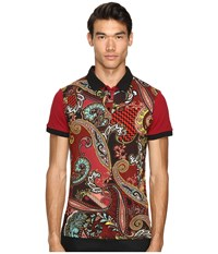 Versace Classic Printed Polo Russet Men's Clothing Brown