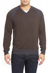 Men's Robert Graham 'Regan' Wool V Neck Sweater