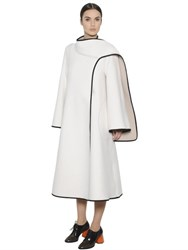 Sportmax Stitched Felted Wool Coat