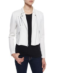 Generation Love Dylan Lace Up Moto Jacket White