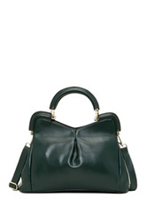 Segolene En Cuir Florrie Framed Leather Handbag Green