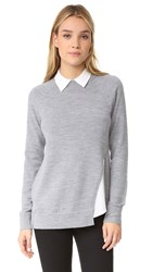 Ayr Twisted Seam Tunic Heather Grey