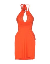 Vdp Beach Dresses Short Dresses Women Orange