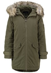 Vila Vivijala Winter Coat Ivy Green Dark Green