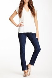 7 For All Mankind Houndstooth Skinny Jean Blue