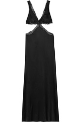 Agent Provocateur Michelle Lace Trimmed Silk Blend Satin Nightdress