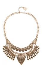 Adia Kibur Nicole Statement Necklace Gold