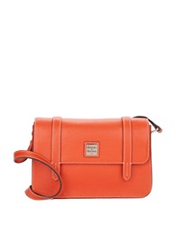 Dooney And Bourke Saffiano Leather Small Crossbody Messenger Bag Orange