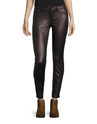 Blank Nyc Metallic Faux Leather Leggings Copper