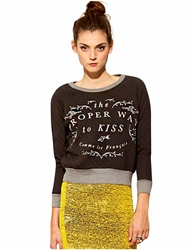 Proper Kiss Quilted Sweatshirt