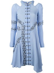 Antonio Berardi Eyelet Detail Dress Blue