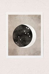 Urban Outfitters Claire Goodchild Moon And Stars Leo Art Print No Frame