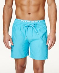 Diesel Men's Bmbx Dolphin E Solid Swim Shorts Turquoise
