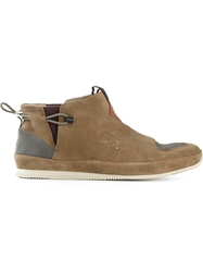 Paul Smith Panelled Elasticated Sling Back Trainers Nude And Neutrals