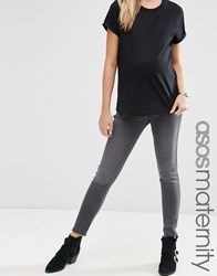 Asos Maternity Rivington Jeggings In Ice Grey Wash Gray